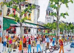 le-marche-de-la-creation-paris-peinture-saint-gemain-des-pres-grand-hotel-francais
